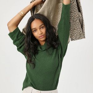 Jayna Ribbed Cowl Neck Pullover